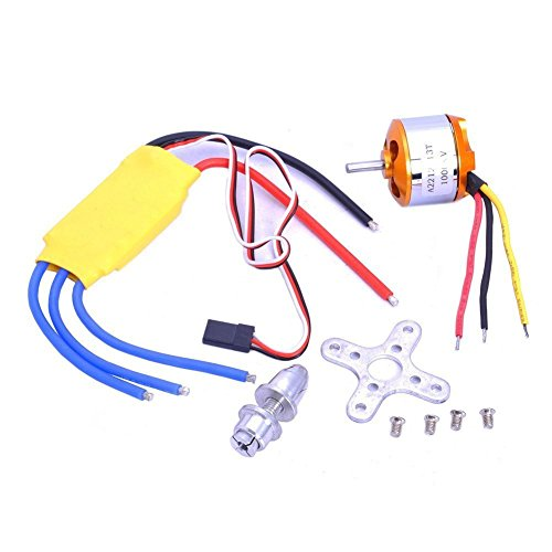 Xiangtat A2212 1000kv Outrunner Brushless Motor + 30a ESC Electric Speed Controller Set for Rc Aircraft Plane Multi-copter Quadcopter