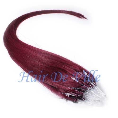 Hair De Ville 22-inch Micro Loop I-Tip Indian Remy Hair in Burgundy