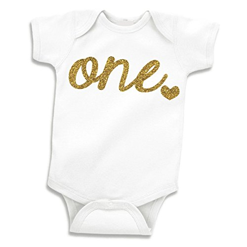 Baby Girls First Birthday Outfit, Girl One Year Old Birthday (12-18 Months)]()