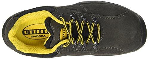 Diadora Flow Ii Low S1p, Zapatos de Trabajo Unisex Adulto Gris (Grigio Gabbiano Scuro)