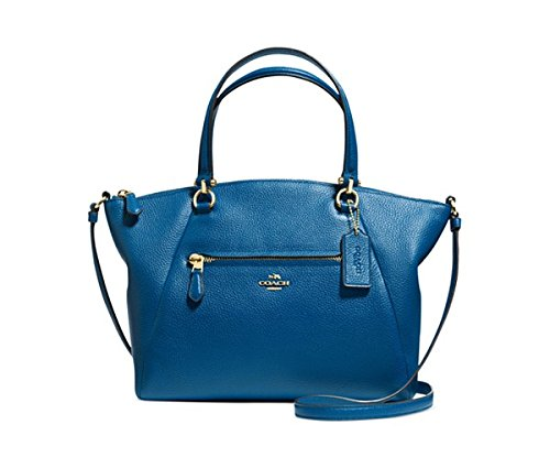 COACH Women's Pebbled Prairie Satchel LI/Denim Tote by Coach