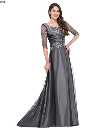 Ever Pretty, Grace Karin Quissmoda Vestido Fiesta Largo Boda, Color Gris, Talla 50