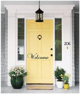 Welcome Indoor/outdoor Front Door Vinyl Sticker -Wall Decal-19\