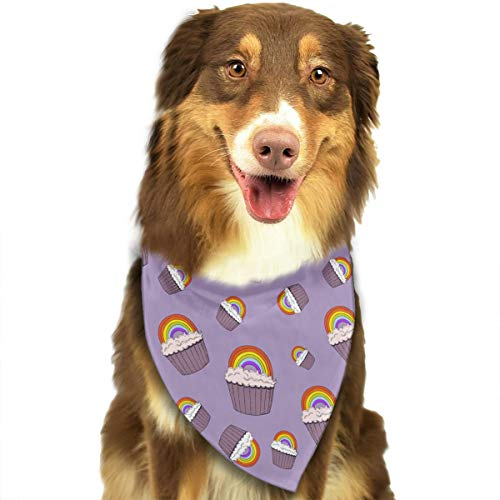 Cute Cupcake Pattern Fashion Dog Bandanas Bibs Scarfs Pet Scarfs Cats Dog Scarf
