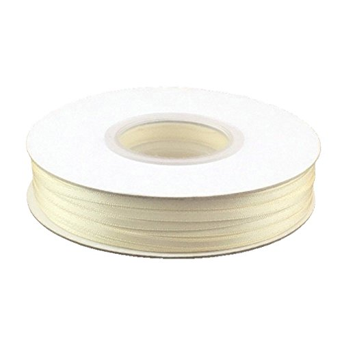 100 Yard Cream - 1/8in. Wide Double Faced Satin Ribbon - Ivory (100 yard spool)
