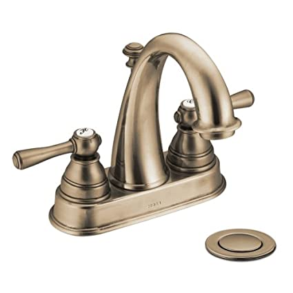 Moen AZ Kingsley TwoHandle High Arc Bathroom Faucet Antique - Moen wrought iron bathroom faucets