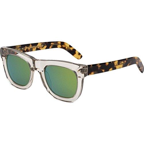 3960a1fa571f Galleon - Super Unisex Ciccio Sportivo Clear/Tortoise/Green Sunglasses