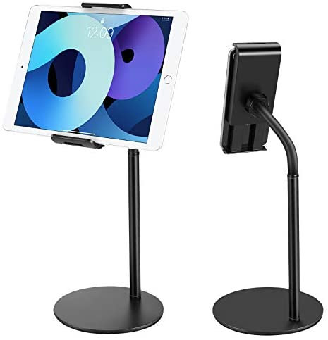 Tablet Stand Phone Holder, JOYWA 360 Degree Rotating Adjustable Desktop Tablet Mount Compatible with iPad /iPhone/Nintendo Switch/Samsung Galaxy Tabs/Kindle /eBook Reader and More 4.6″-10.5 inch