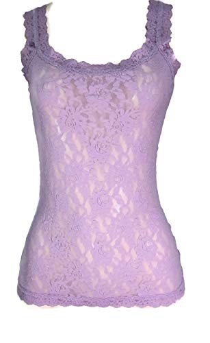 Hanky Panky Signature Lace Tank - Hanky Panky Signature Lace Classic Unlined Camisole, Woman Lingerie, 1390LP L, Water Lily Purple