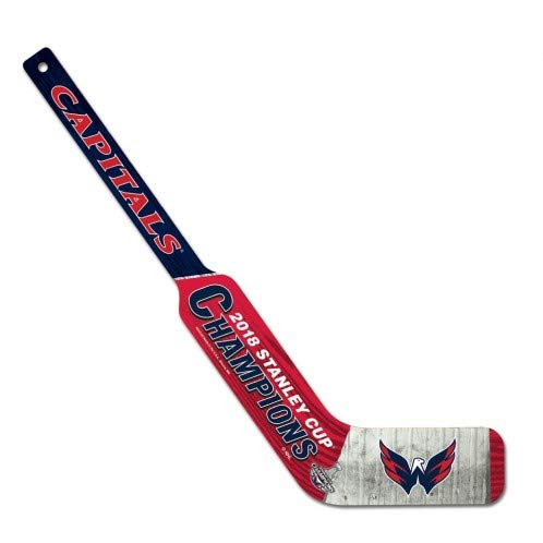 WinCraft Washington Capitals 2018 NHL Stanley Cup Champions Wooden Goalie Hockey Stick