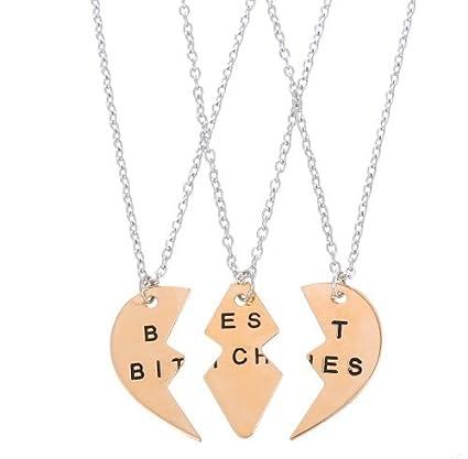 Amazon best bitchs friend gifts pendants necklace charms best bitchs friend gifts pendants necklace charms necklace best bitches best friend bff forever love split aloadofball Choice Image