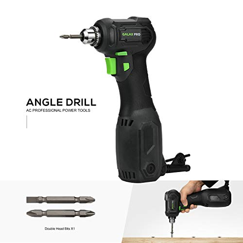 (Angle Drill, GALAX PRO 3.5 Amps Close Quarter Power Drill 3/8