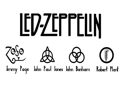Led Zeppelin Wall Decals Legends of Music Stickers Decorative Design Ideas for Your Home or Office Walls Removable Vinyl Murals EC-1140 (Best Led Zeppelin Tattoos)