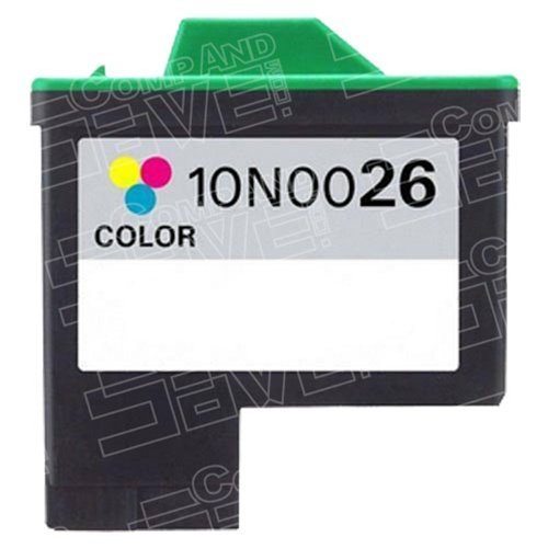 10n0026 Cartridge (CompAndSave Replacement for Lexmark 10N0026 (#26) Color Ink Cartridge)