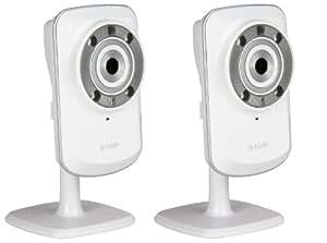 D-Link DCS-932L - Cámara de vigilancia de 0.3 Mp (WiFi, visión nocturna, micrófono), blanco