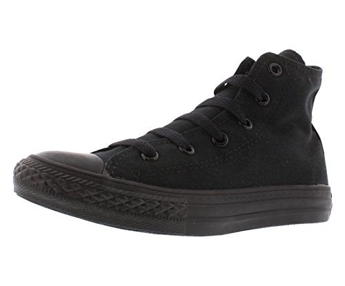 Converse Chuck Taylor All Star Canvas High Top Sneaker black monochrome 1 M US Little Kid (Footwear Youth Black)