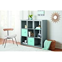Sturdy Better Homes and Gardens 9-Cube Organizer in Grey Finish