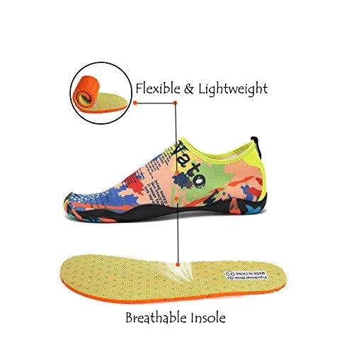 Lxso Heren Dames Waterschoenen Multifunctionele Sneldrogende Aqua Schoenen Lichtgewicht Zwemschoenen Met Drainagegaten Geel