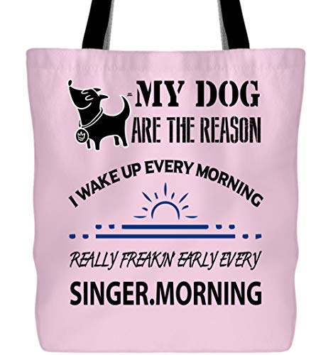 Tote Bags, My Dog Are The Reason Tote Bags (Tote Bags - Light Pink) ()