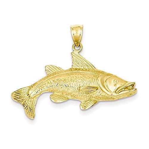 (14k Polished Open-Backed Redfish Pendant)