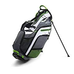 The Fusion 14 fuses the best of storage and a 14 way top of a cart bag in a light weight stand bag. It features 12 well thought out pockets, including a magnetic valuables and water bottle pocket, a quick access cell phone sleeve and quick re...