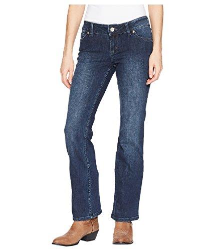 Wrangler Women's Retro Mae Mid-Rise Jeans Dark Wash 9 32