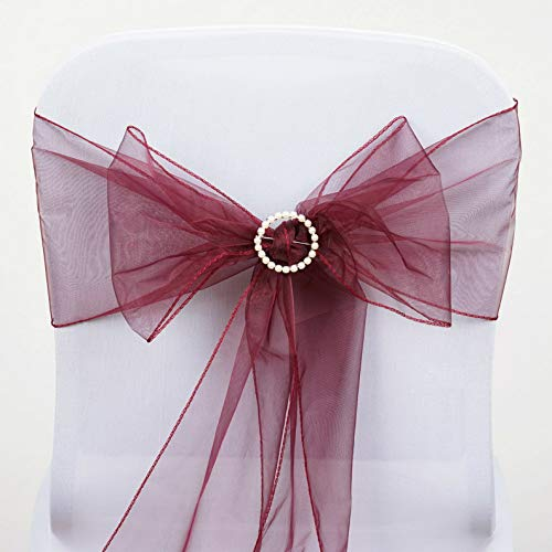 Mikash Organza Chair Sashes Bows Ties Wedding Reception Decorations Dinner Wholesale | Model WDDNGDCRTN - 3826 | 250 pcs]()