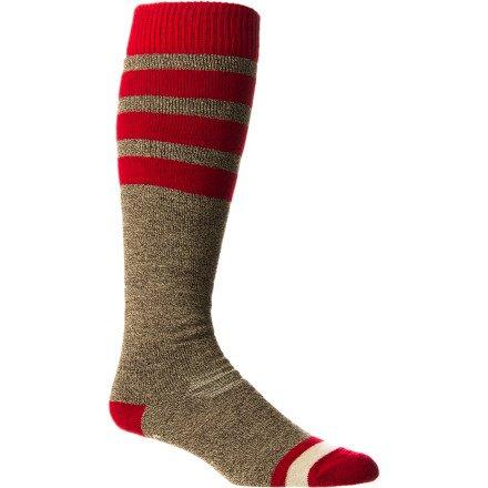 Stance Men's Carlton Casual Socks, Black, Large/X-Large