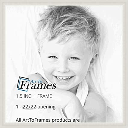 ArtToFrames 19x22 inch Off White Stain on Beech Wood Picture Frame 2WOM0066-81791-YWHT-19x22