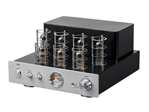 Monoprice Pure Tube Stereo Amplifier with Bluetooth Line and Phono Inputs Monoprice
