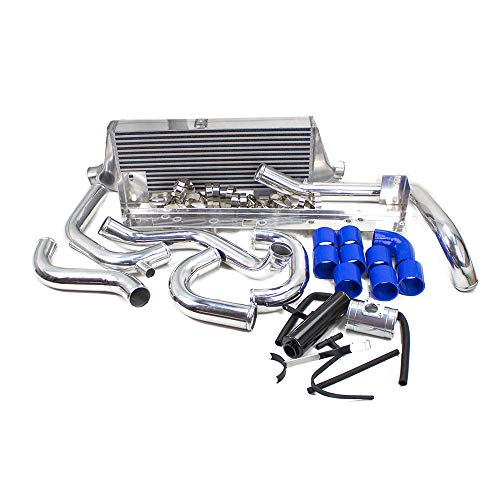 ICK-046 Front Mount Intercooler Kit, Ver. 2, made for Subaru Impreza WRX/WRX STI - 17 Overflow Polished Tank