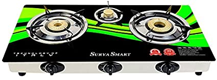 Surya Smart SS502G 3 Burner Aauto Gas Cooktop
