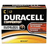 Duracell MN1400 Coppertop Alkaline Batteries, C, 12/Pack