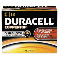 Duracell MN1400 Coppertop Alkaline Batteries, C, 12/Pack by Duracell