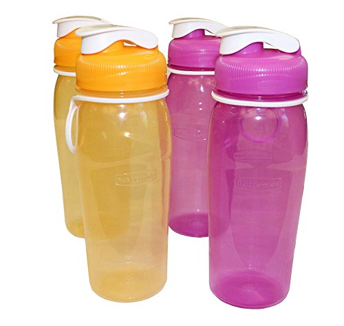Rubbermaid Refill, Reuse 20-ounce Chug Bottle (4 Pack)