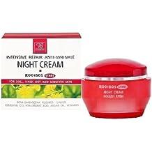 Rooibos Intensive Repair Anti-Wrinkle Night Cream with Argan Oil & Rooibos Extract - No Animal Testing - 50ml by Bodi-D