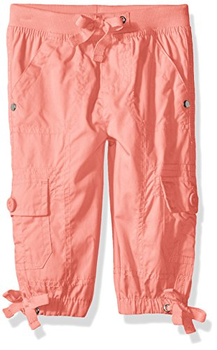 - Limited Too Big Girls' Fleece Pant, Pull/on Rib Waist Cargo Capri Neon Coral, 10