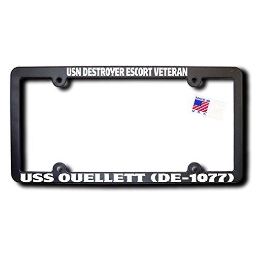 USN Destroyer Escort Veteran USS OUELLETT (DE-1077) License Frame -  James E. Reid Design, DET-460
