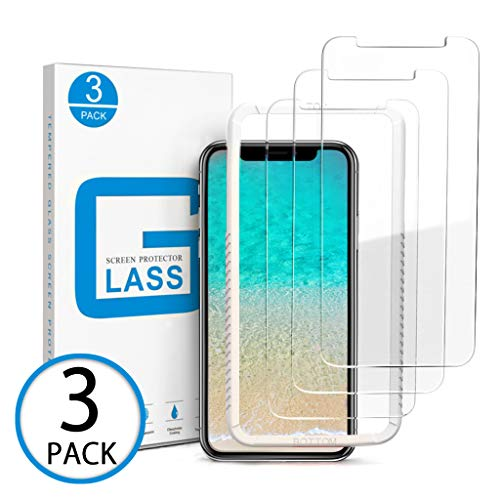 Marge Plus Compatible with iPhone Xs Max Screen Protector, [3 Packs] 0.25mm Tempered Glass Screen Protector Anti-Scratch Case Friendly 2.5 D Curved Edge 6.5 Inch with 99% Touch Accurate