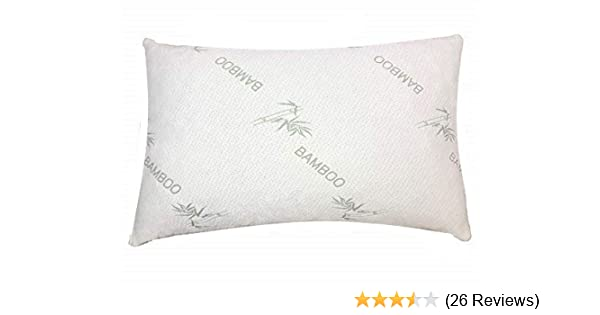 Amazon Com Bamboo Pillow With Organic Shredded Latex King Size