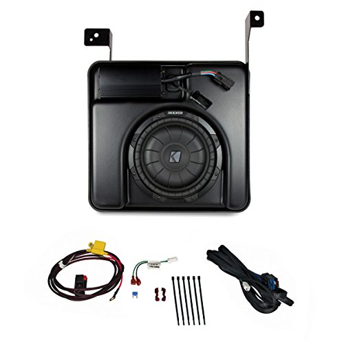 red Subwoofer Upgrade Kit For 2014-Up Chevrolet Silverado & GMC Sierra Crew Cab ()