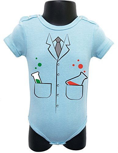 NEW BABY Bodysuit Onesie Romper Soft UNISEX HALLOWEEN FUNNY Comes Gift Wrapped (0-6 MONTHS, BLUE (Regalos Originales Para Halloween)