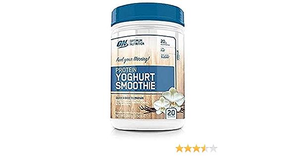 OPTIMUM NUTRITION Yogur Smoothie de Proteína con Sabor Vainilla - 700 g