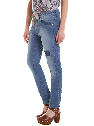 tissu Stone 566 771B0970X Jeans normale Wash Sec taille 771 loose Moyen pour femme taille extensible Carrera Bleu Jeans HYAqawwR