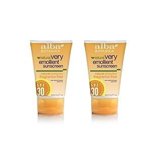 Alba Very Emollient Sunscreen SPF 30, Fragrance Free