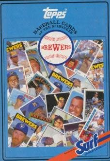 Topps Baseball Cards of the Milwaukee Brewers