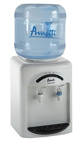 (Avanti WDT35EC Countertop Room Temperature and Cold Water Cooler, 1, White)