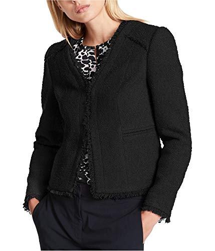 DKNY Womens Fall Lightweight Blazer Black ()