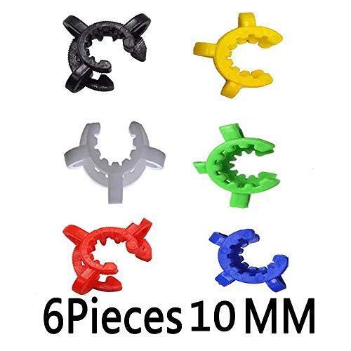 REAM Keck Clip 10MM /14MM/18MM Multiple Colors 6 Pack (10MM, Multiple) (Keck Clip 14)