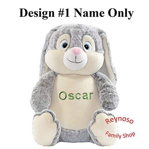 Cubbies Plush Toys Kids Gift Embroidered Stuffed Animals Personalized Plush Animals Cute Grey Bunny